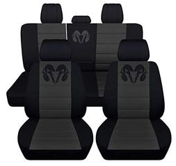 Fits 2012 to 2018 Dodge Ram Front and Rear Ram Seat Covers 2