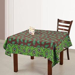 ShalinIndia Floral Printed Spring Square Tablecloths 54 x 54