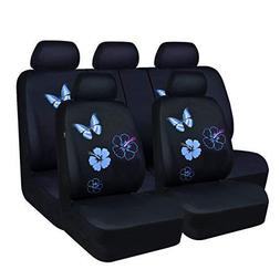 CAR PASS Flower and Butterfly Universal Car Seat Covers, Suv