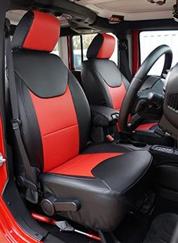 Miraculous Jeep Wrangler 2013 2016 Black Red Artificial Leather Custom Made Lamtechconsult Wood Chair Design Ideas Lamtechconsultcom
