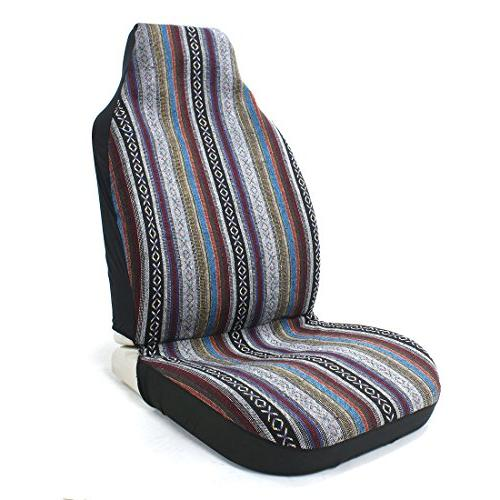 10pc Multi-Color Cover Saddle Weave Universal Bucket Seat Cover Fit for & Vans Wheel Cover