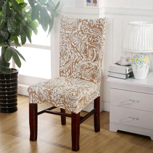 Stretch Spandex Dining Room Décor Pattern Seat Cover