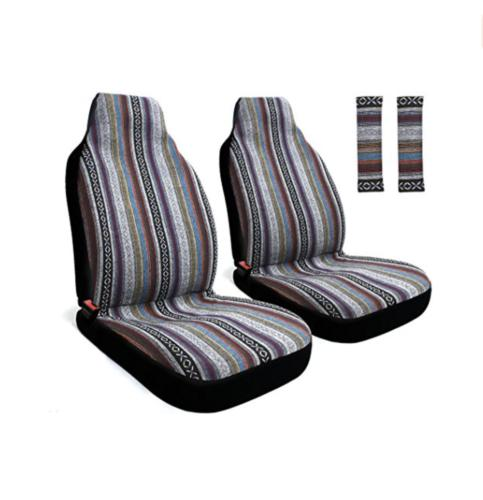 Copap 4 Piece Universal Stripe Colorful Baja Seat Cover with