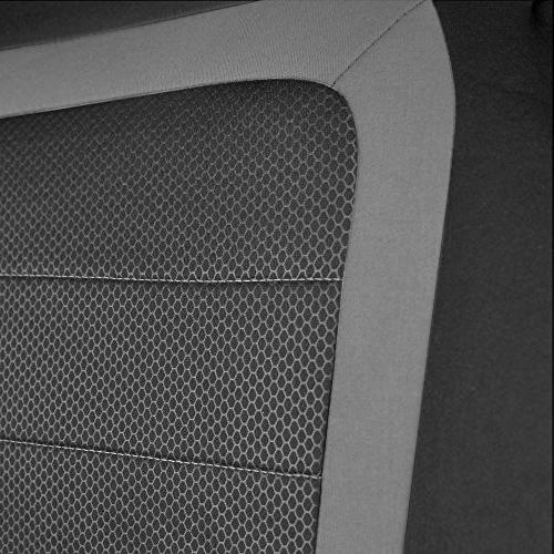BDK Car Seat - Install Seat Protector Pair Honeycomb Accent