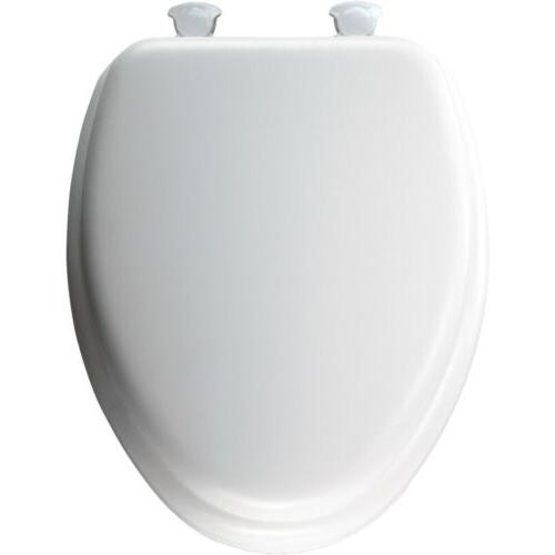BEMIS - Soft Elongated Closed Front Toilet Seat in White - W