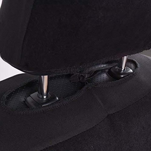 CAR 11PCS Fit Seat Cover -100% Breathable with Inside,Airbag Compatible