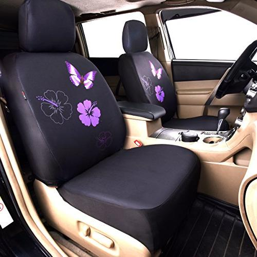 CAR PASS NEW ARRIVAL Flower And Butterfly Car Seat Covers,Perfect Suvs,sedans,Vehicles,Airbag