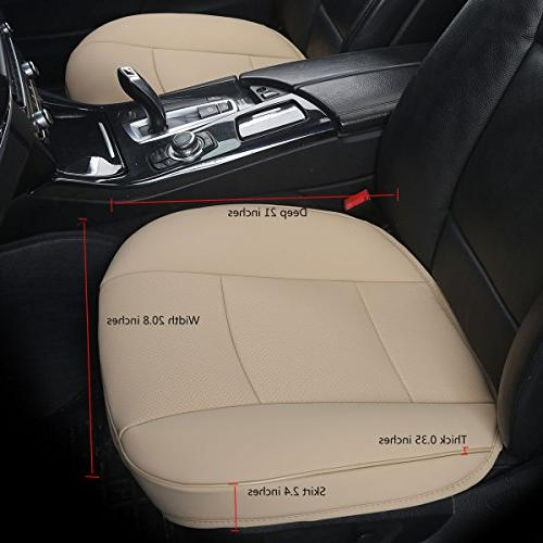 EDEALYN Car PU Seat Cover Seat Cover,Single Cushion