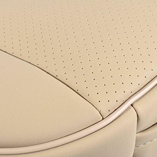EDEALYN Car PU Leather Cover Protector Front Seat Cover,Single Ceat Cushion Cover