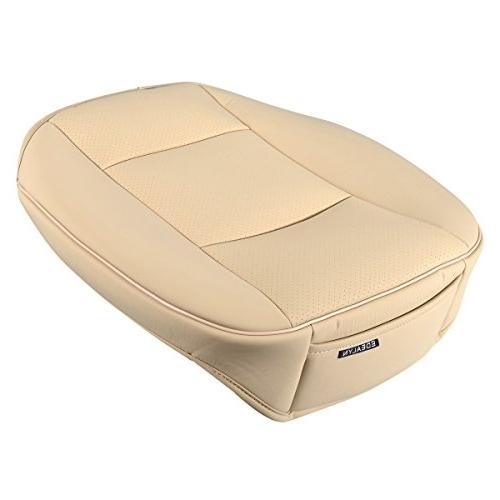 EDEALYN Luxury PU Car Cover Seat Cover,Single Cushion