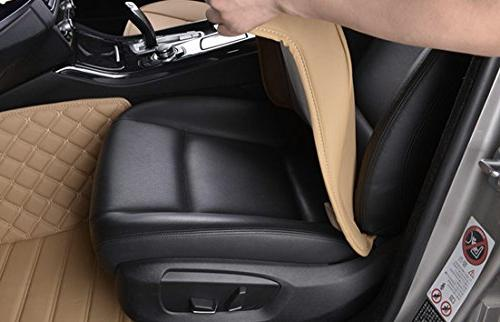 EDEALYN PU Leather Cover Protector Front Seat Cover