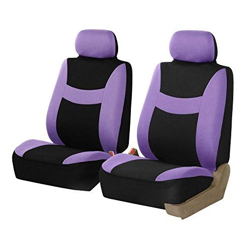 FH Group Seat Cover Combo Set with Steering Wheel Seat Belt