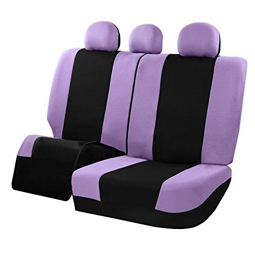 FH Group FB030PURPLE-COMBO Cover Combo Set with Steering Seat Belt