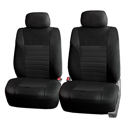 w Gift Airbag Compatible FH Group FB068102 Premium 3D Air Mesh Seat Covers Pair Set or Van SUV Burgundy//Black Color- Fit Most Car Truck