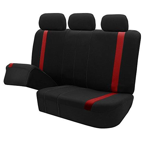 FH Red Cosmopolitan Covers, Split Bench, -Fit Car, SUV, or Van