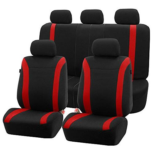FH Group FH-FB054115 Red Cosmopolitan Flat Cloth Seat Covers