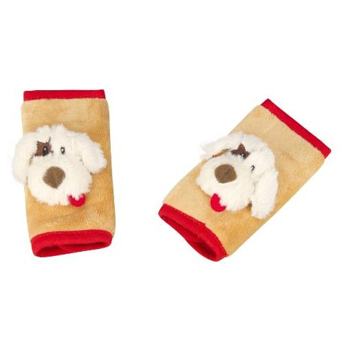 J is for Jeep Car Seat Strap Covers 2 Pack, Plush Puppy