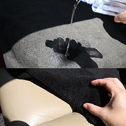 Leader Towel Front Bucket Cover SUV Black Anti-Slip Backing Great Swimming, Boxing, Hiking
