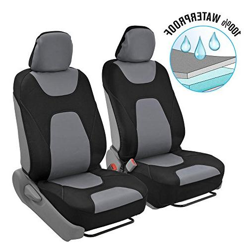Motor Trend 3 Layer Waterproof Car Seat Covers - Modern Blac