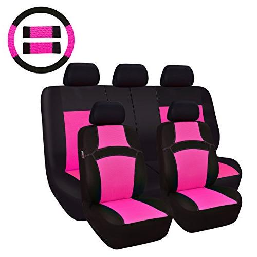 NEW ARRIVAL- CAR PASS RAINBOW Universal Fit Car Seat Cover -