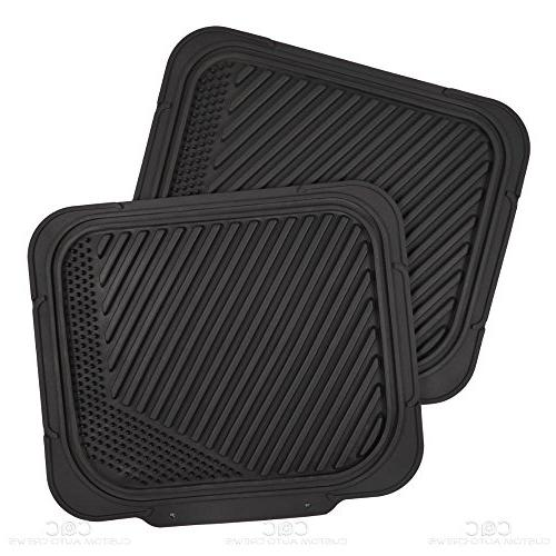 Two-Tone PolyCloth Car Covers Trend Dual-Accent Rubber Floor Mats