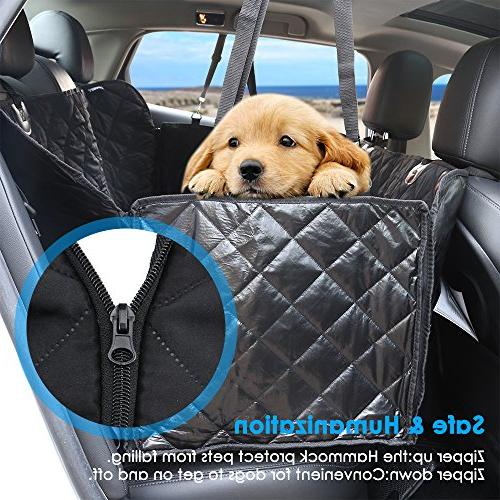 Covers, 100% Waterproof Seat Cover Dog Seat Cover Seat Washable Car Seat Cover with Pet Seat Belts and Flaps Cars and