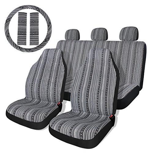 Copap Black & Gray Baja Saddle Blanket Car Seat Covers with
