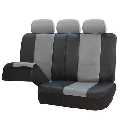 FH Black Leather Airbag and Split Bench Covers,