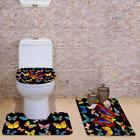 Butterfly Print Toilet Seat Cover Home Carpet  Overcoat Toli