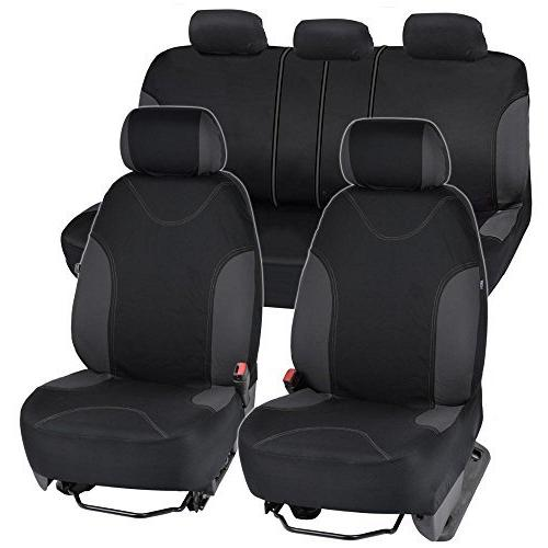 Incredible Charcoal Trim Black Car Seat Covers Full 9Pc Uwap Interior Chair Design Uwaporg
