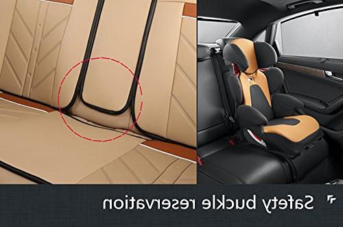 Amooca Compatible Universal Full Front Ice Silk PU Cushion Fit for All Car Beige