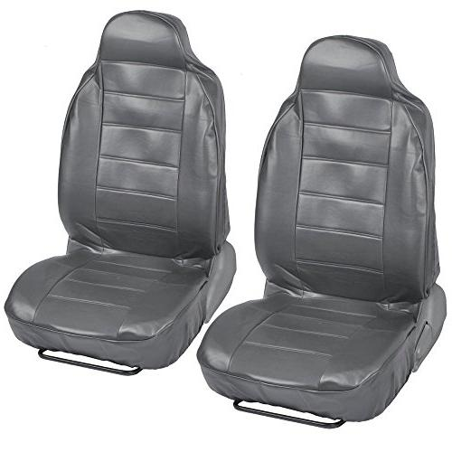 deluxe pu leather front car grey seat