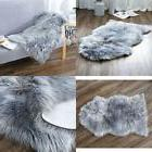 Deluxe Soft Faux Sheepskin Throw Chair Cover Seat Pad Plain