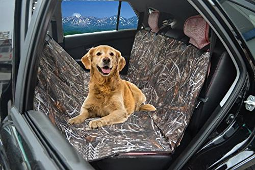 KIMHY for - Back Seat with Non Slip Backing, Belt & Bench Seat Cover Dog for Trucks,