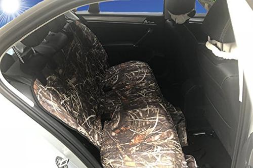 KIMHY Cover for Cars Back Seat Non Backing, Anchors,Safety Belt Openings, Waterproof & Seat Cover Dog Trucks, Jeeps