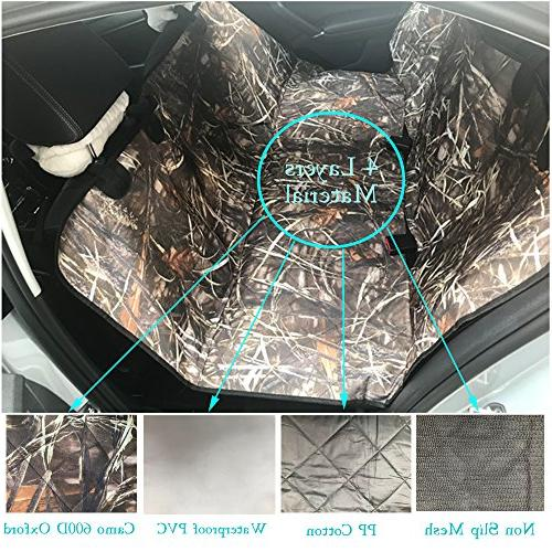 KIMHY for Cars Back Seat Non Slip Belt & Scratchproof Bench Cover Trucks,