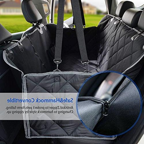 Dog Covers, 600D Waterproof Car Covers 2 Seat & Back Cover Cat Dog Convertible Side Cars