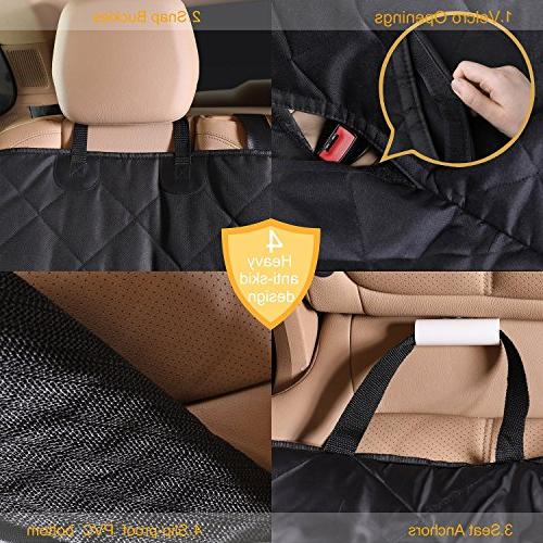 Dog 600D Waterproof Pet Covers Seat & & Pocket - Nonslip Back Cover Cat Dog Hammock Side Flaps for Cars Trucks