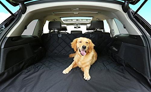 Dog Covers, Waterproof Car Covers Seat Belts & Zipper & Pocket Back Cover Cat Dog Convertible Extra Side Best for Cars