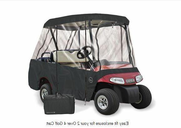 Drivable Golf Car Cart Enclosure Cover - Fits 4 Person Seat