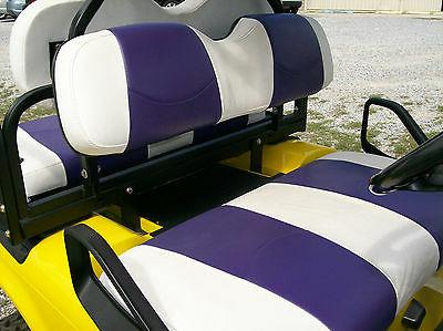EZ-GO TXT Golf Cart Custom Vinyl Seat Covers-Front and Rear