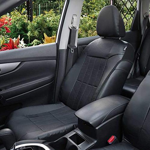 Faux Covers for Car SUV 2 Front Black Headrest - Leader Accessories