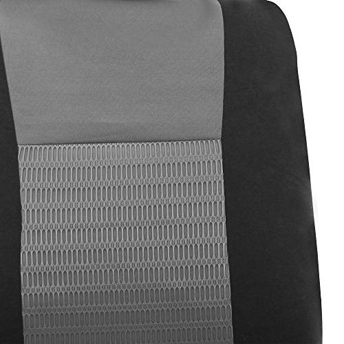 FH Elegance Full Set Seat Covers, Compatible and Bench, Color- Fit Car, Truck, or