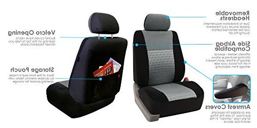 FH Group Elegance Car Seat Compatible and Split Bench, Color- Most Car, Truck,