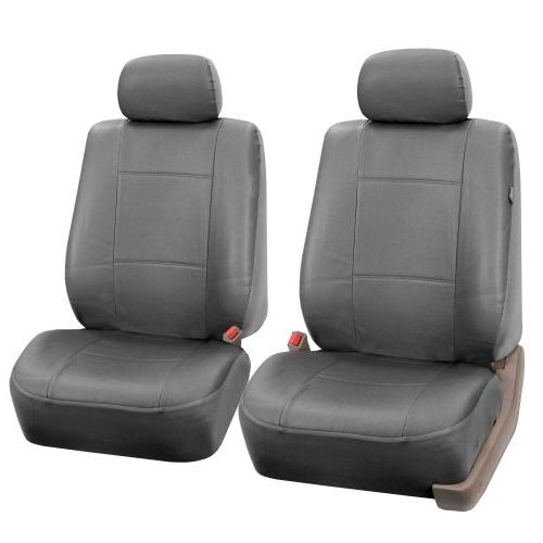 FH Group Classic Exquisite Leather Full Car Seat Covers, Compatible and Solid Fit Most or