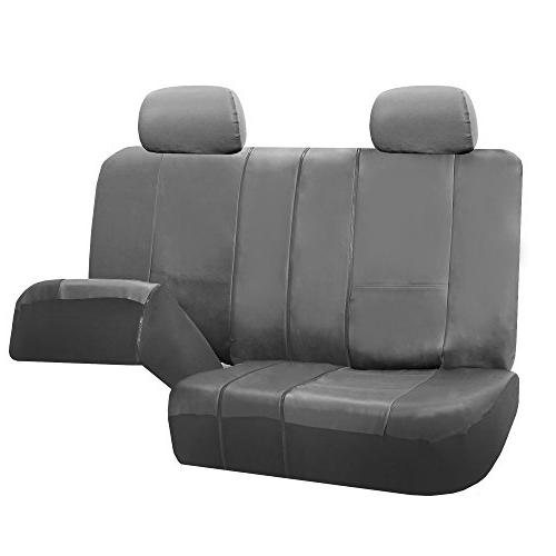 FH Group FH-PU002114 Exquisite Leather Car Airbag Compatible Solid Color- Fit Most Car, Truck, SUV, or Van