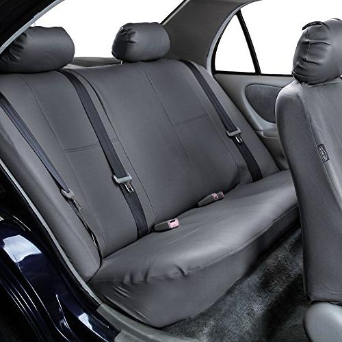 FH Group Exquisite Car Airbag Compatible and Split Solid Color- or