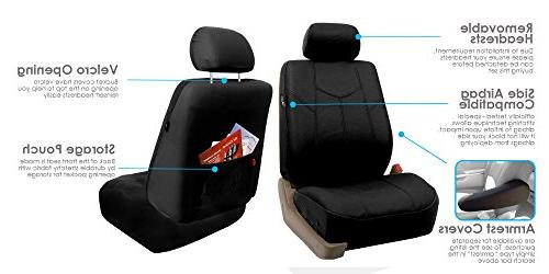 FH Group Rome PU Car Seat Covers, Airbag compatible and Split Bench, Solid Most