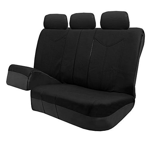 FH Group PU Leather Car Seat Covers, compatible and Bench, Solid Most Truck, or