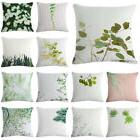 Fresh Green Plant Cotton Linen Pillow Case Sofa Seat Car Cus